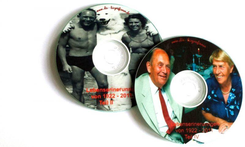 Bedruckte CDs hergestellt von Die Biografinnen